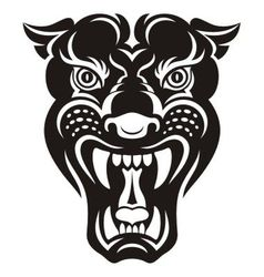 Panther tattoo vector image vector image
