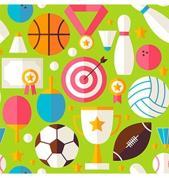 Sport Recreation Competition Flat Design Green vector image
