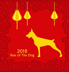 chinese happy new year 2018 vector image vector image