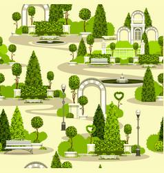 Seamless park pattern vector