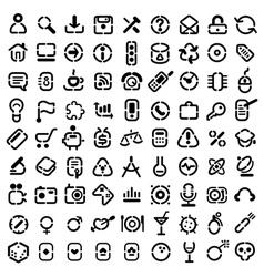 Stencil icons vector image vector image