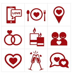 valentines icon set vector image