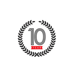 10 year celebrate template design vector