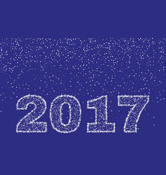 2017 happy new year on blue background stock - vector image