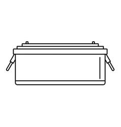 24 volt car battery icon outline style vector
