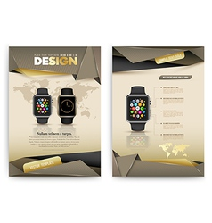 Abstract Brochure Template with smart watch vector