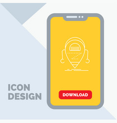 android beta droid robot technology line icon in vector image
