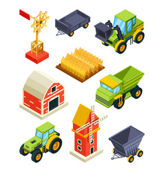 architectural objects of farm or village vector image