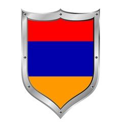 Armenia flag button vector image