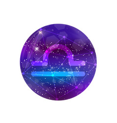 astrological symbol of libra abstract shiny vector image