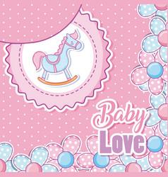 baby love card cartoons vector image