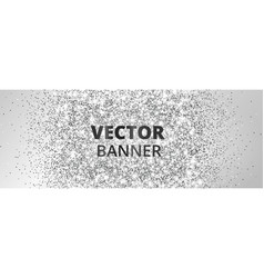 Banner with silver glitter explosion sparkles on vector