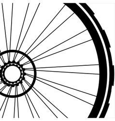 Bike wheel - on white vector image