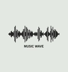 Black music wave vector