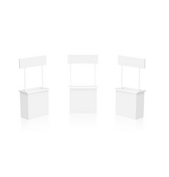 Blank promotion stands on a white background vector