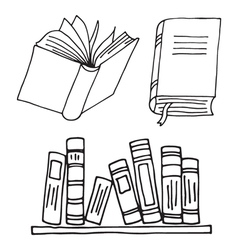 Books icon isolated vector