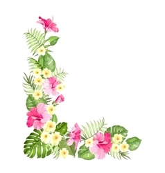 Botanical decorative garland vector image