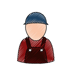 Car mechanic avatar vector