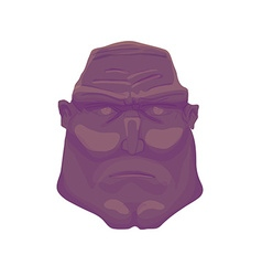 Cartoon dark Brutal Man Face vector