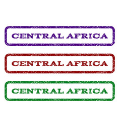 Central africa watermark stamp vector