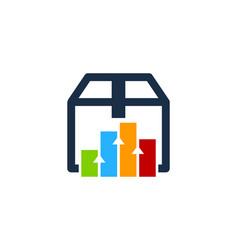 chart box logo icon design vector image