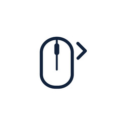 Click right left computer mouse icon symbol flat vector