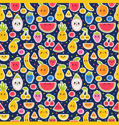 colorful hand drawn seamless pattern with summer vector image