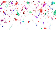 confetti explosion isolated on white background vector image