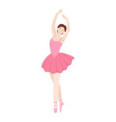 dancing beautiful ballerina on white background vector image