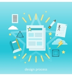 Design Process Concept vector image