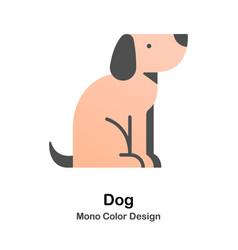 dog mono color icon vector image