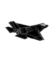Draw of modern american jet fighter vector