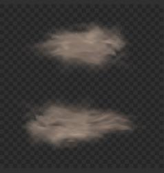 dust sand cloud effect dirt smoke flying vector image
