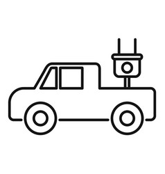 electrical pick up icon outline style vector image