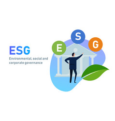 Esg concept environmental social and vector