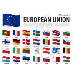 European union flag eu and membership on vector
