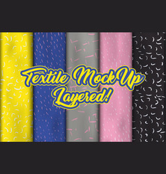 fabric or cloth textile and clothing material vector image