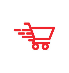 fast cart graphic icon design template vector image