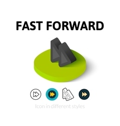 Fast forward icon in different style vector