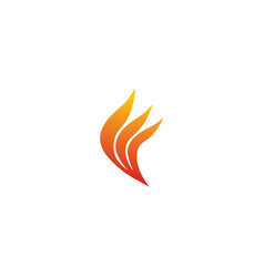 Fire wings logo forming a creative flame design vector