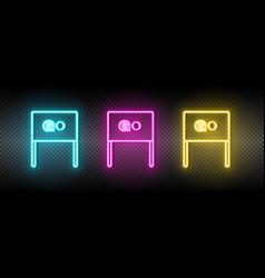 Flag go launch neon icon vector