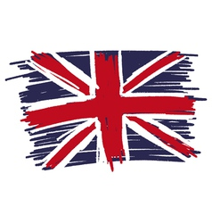 Flag of united kingdom uk great britain handmade vector