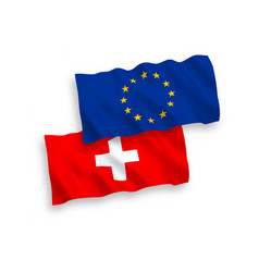 Flags european union and switzerland vector
