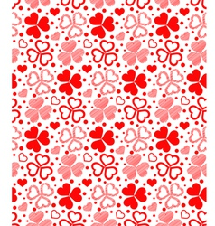Floral seamless red hearts vector