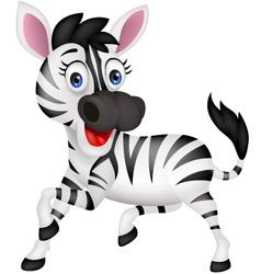 Funny zebra vector