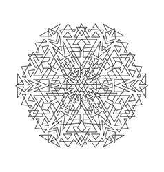 Geometric ornamental mandala design vector