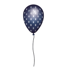 Globe blue with white stars and cord vector
