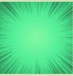 green comic zoom lines background vector image