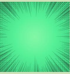 Green comic zoom lines background vector