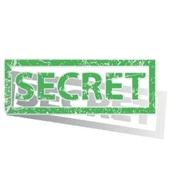 Green outlined SECRET stamp vector image
